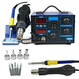 Us 2in1 Soldering Rework Stations Smd Hot Air Iron Desoldering Welder 862d