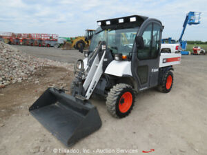 2006 Bobcat 5600 Toolcat Utility Work Vehicle Front Loader Bucket Cab A c Auxhyd