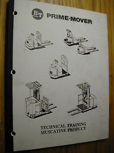 Bt Prime Mover Electric Hydraulic Schematics Manual Pallet Jack Forklift Truck