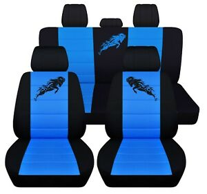 Truck Seat Covers 2009 2011 Dodge Ram Full Set Black With 23 Color Choices Abf