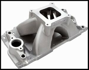 Edelbrock Super Victor Ii Intake Manifold Single Plane For Sbc 2892