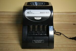Royal Sovereign Auto Coin Sorter Digital Automatic Electric Electronic black