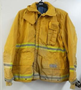 Fyrepel Firefighter Turnout Gear Bunker Padded Jacket Yellow Size 2x large