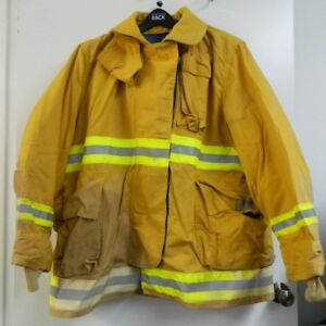 Fyrepel Firefighter Turnout Gear Bunker Padded Jacket Yellow Size X large 8