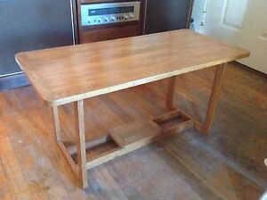 Vintage Arts Crafts Mission Oak Coffee Accent Table Console Entryway Hall