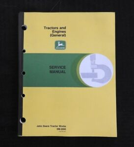 Genuine John Deere A B G H M 2 cylinder Tractor Engines Service Manual 1949