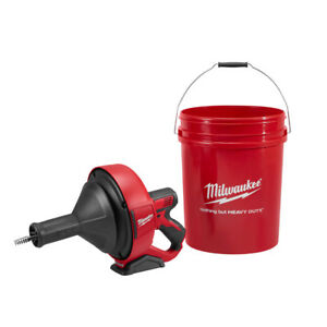 Milwaukee 2571 20 M12 Drain Snake 5 16 X 15 Bulb Cable Storage Bucket