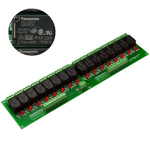 Electronics salon 16 Spdt 10amp Power Relay Module Dc 12v Version