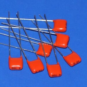 1000pcs 10nf 100v 10 Mkt Metallized Film Capacitor