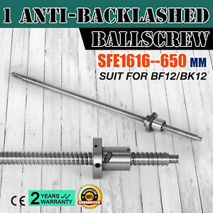 Anti Backlash Ballscrew Sfe1616 650mm Bkbf12 25 6inch Machine Tool Anti Backlash