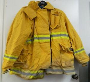 Fyrepel Firefighter Turnout Gear Bunker Padded Jacket Yellow Size X large 9