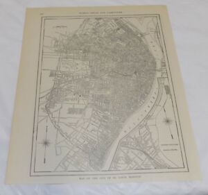 1911 Collier Map Of St Louis Missouri