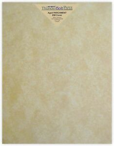 100 Old Age Parchment 65lb Cover Paper Sheets 8 5 X 11 Inches Cardstock Weigh