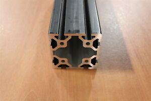 8020 Inc 80mm X 80mm Alum Extrusion 40 Series 40 8080 X 2083mm Black Sc F3 10