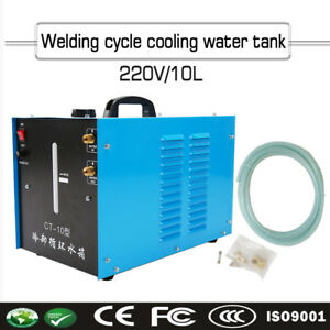 Tig Welder Torch Water Cooler 10l Tank Wearability Quick Couplers Ct 10 Ac220v