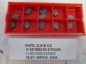 Lot Of 11 Carbide Ngtl 2 4 8 c2 Cut Off Inserts New