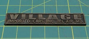 Village Imported Cars Inc Bel Air Md Vintage Car Dealership Emblem