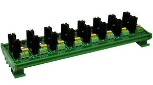 Din Rail Mount 8 Channel 6 Amp Ssr Module Board In 4 32vdc Out 100 240vac X1