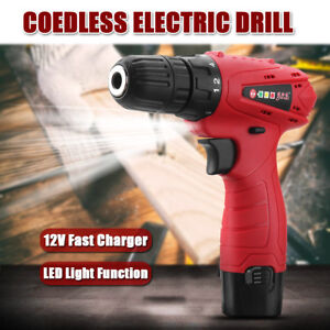 12v Cordless Rechargeable Drill Driver Screw Electric Lithium ion Screwdriver