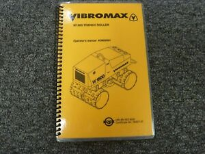Vibromax W1500 Trench Roller Owner Operator Maintenance Specifications Manual