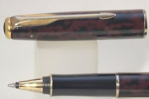 Vintage 1997 Parker Sonnet Autumn Red Rollerball Pen With Gold Trim