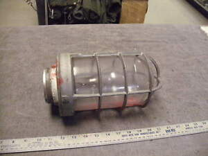 Appleton Form 200 Explosion Proof Industrial Light Fixture Steampunk Used
