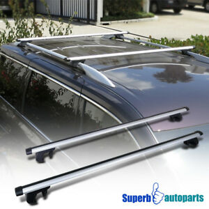 Adjustable 53 Car Top Silver Aluminum Cross Bar Roof Cargo Luggage Rack