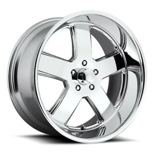 22x11 Us Mag U116 5x5 0 Et18 Chrome Rims Set Of 4