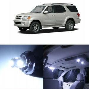 14 X White Led Interior Lights Package For 2001 2007 Toyota Sequoia Pry Tool