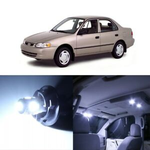 9 X White Led Interior Lights Package For 1998 2000 Toyota Corolla Pry Tool