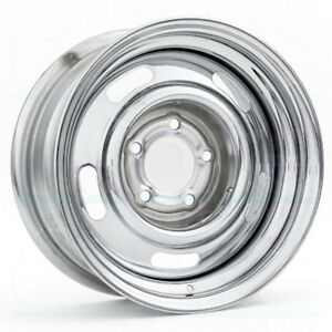 15x7 Vision 57 Rally 5x120 65 Et6 Chrome Wheels set Of 4