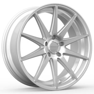 4 New 20 Inch Rosso Legacy 20x8 5 5x108 38mm Silver Machined Wheels Rims