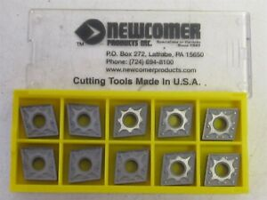 Lot Of 10 Newcomer Cnmg 431sx n22 Carbide Insert New