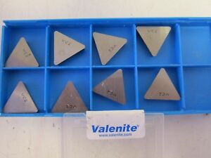 Lot Of 8 Valenite Tpg 433 Vc2 Carbide Indexable Inserts New