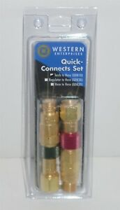 Western Torch To Hose Qdb10 Quick Connect connector Disconnect Set Genuine New