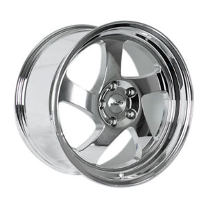 17x9 Whistler Kr1 4x114 3 25 Chrome Wheels Set Of 4