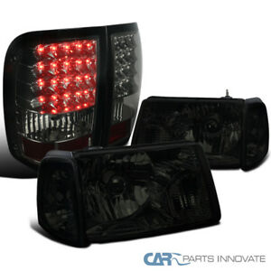 Ford 06 11 Ranger Smoke Headlights Corner Lamps Tinted Led Tail Brake Lights