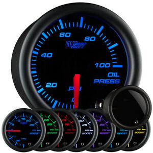 New 52mm Glowshift Tinted 7 Color Led Display Oil Pressure Psi Gauge Meter Kit