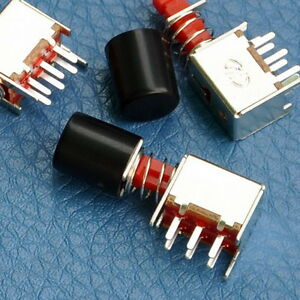 200pcs Dpdt Push Slide Switches W knobs Max 30vdc 1amp