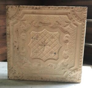 1890 S 23 X 23 Antique Tin Ceiling Tile Malt Brown Wrapped Wall Art 448 18