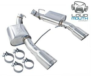 2012 2013 Ford Mustang Boss 302 Slp Axle Back Muffler Exhaust Kit 4 Chrome Tips