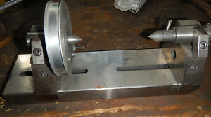 Small Machinist Bench Center With Spinning Headstock Jig Fixture Tooling