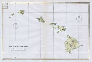 1883 Usg S Map Of The Hawaiian Islands Hawaii