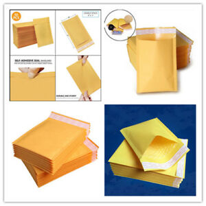 Self Seal Kraft Bubble Envelopes Padded Mailer Shipping Bag Lot Package Envelope
