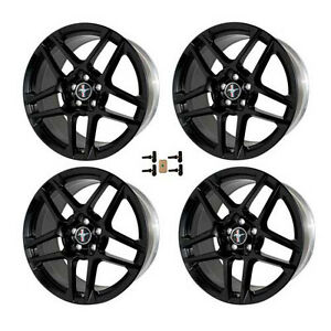 2010 2014 Mustang Shelby Gt500 19 X 9 5 Black Forged Wheels Set W Tpms Kit