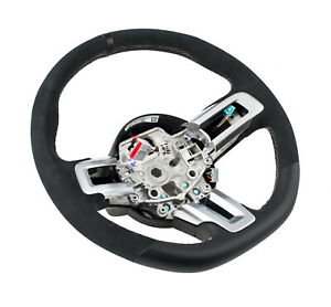 2015 2019 Mustang Shelby Gt350 Silver Stitched Leather Steering Wheel Kit