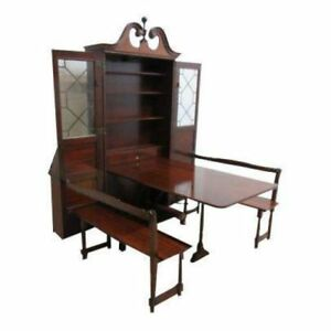 Antique Thomasville Ball Claw Secretary Desk Dyn Rite Hideaway Dining Room Set
