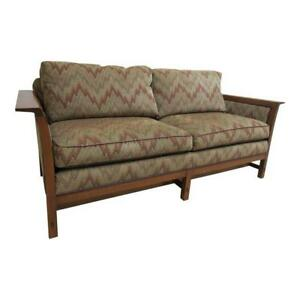 Stickley Tiger Oak Mission Arts Crafts Sofa Couch Settee A