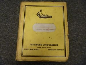 Pettibone Model 30 Multikrane Skidder Repair Parts Catalog List Manual
