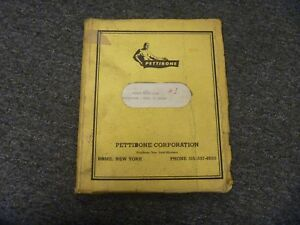 Pettibone Model 25 Multikrane Skidder Repair Parts Catalog List Manual